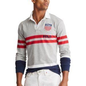 Ralph Lauren LS Classic Fit Striped Rugby Shirt